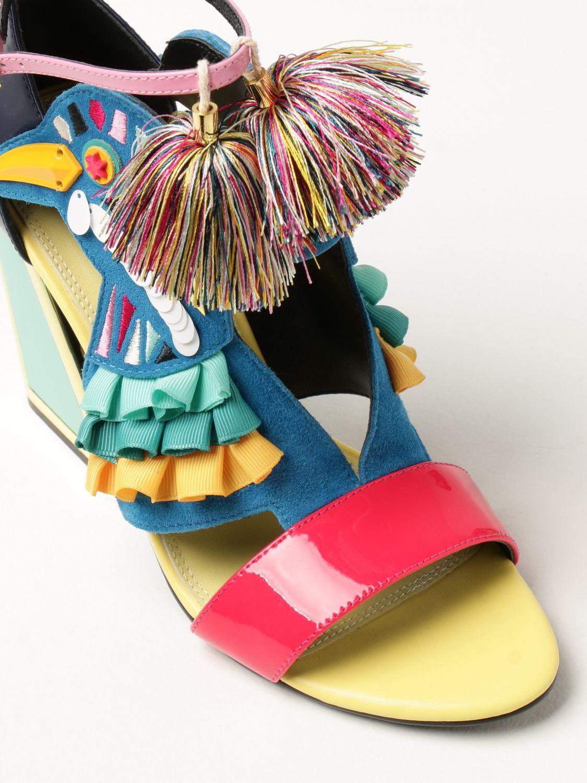Босоножки на каблуке Kat Maconie: Босоножки на каблуке Женское Kat Maconie синий 4