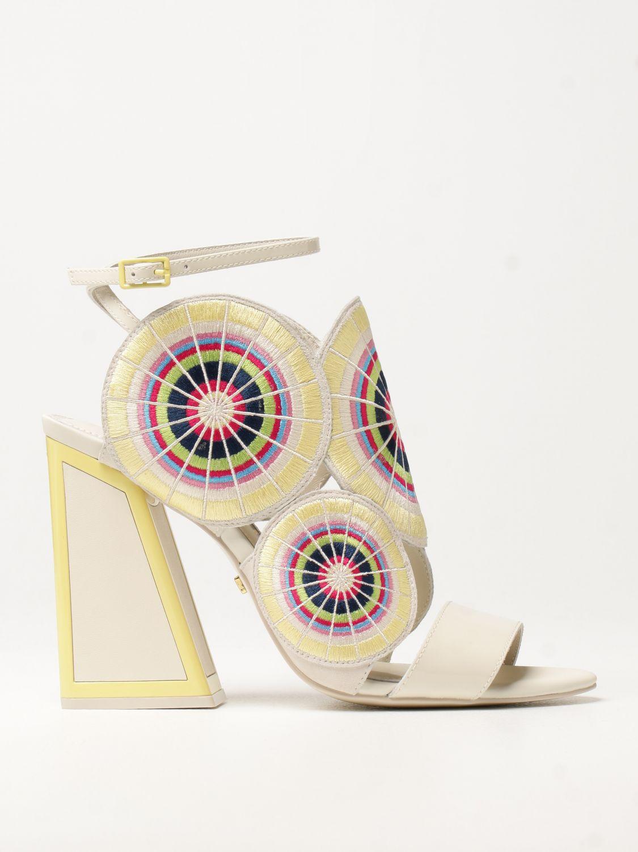Босоножки на каблуке Kat Maconie: Босоножки на каблуке Женское Kat Maconie бежевый 1
