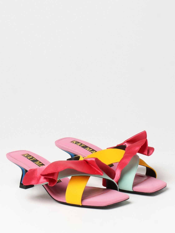 Босоножки на каблуке Kat Maconie: Босоножки на каблуке Женское Kat Maconie многоцветный 2