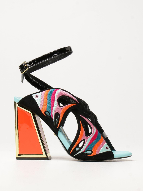 Босоножки на каблуке Kat Maconie: Босоножки на каблуке Женское Kat Maconie черный 1