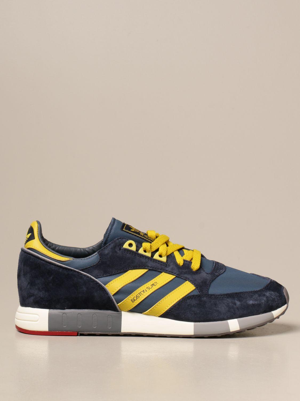 Sneakers Adidas Originals: Sneakers Boston Super Adidas Originals in tela e camoscio blue 1