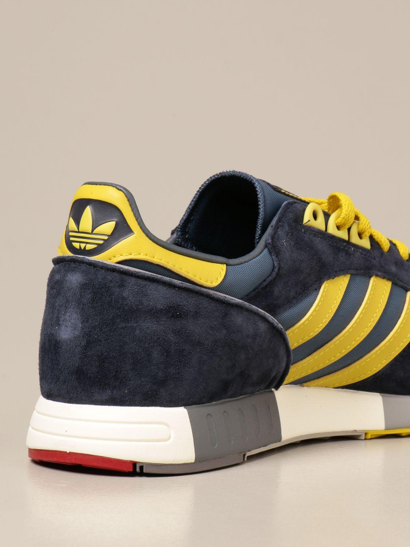 Sneakers Adidas Originals: Sneakers Boston Super Adidas Originals in tela e camoscio blue 3