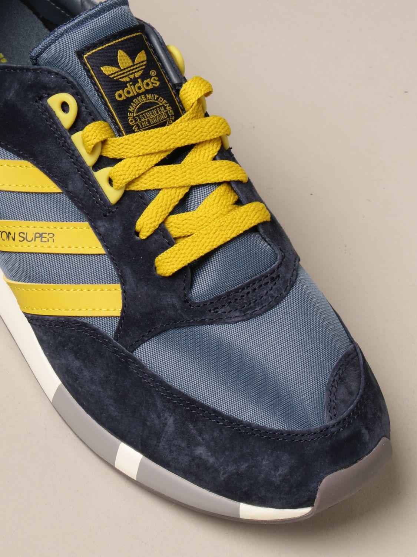 Sneakers Adidas Originals: Sneakers Boston Super Adidas Originals in tela e camoscio blue 4