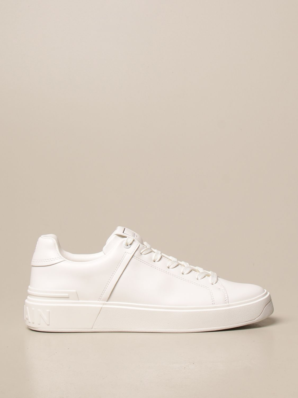 Sneakers Balmain: Sneakers Balmain in pelle con logo bianco 1
