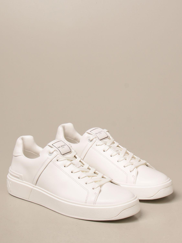Sneakers Balmain: Sneakers Balmain in pelle con logo bianco 2