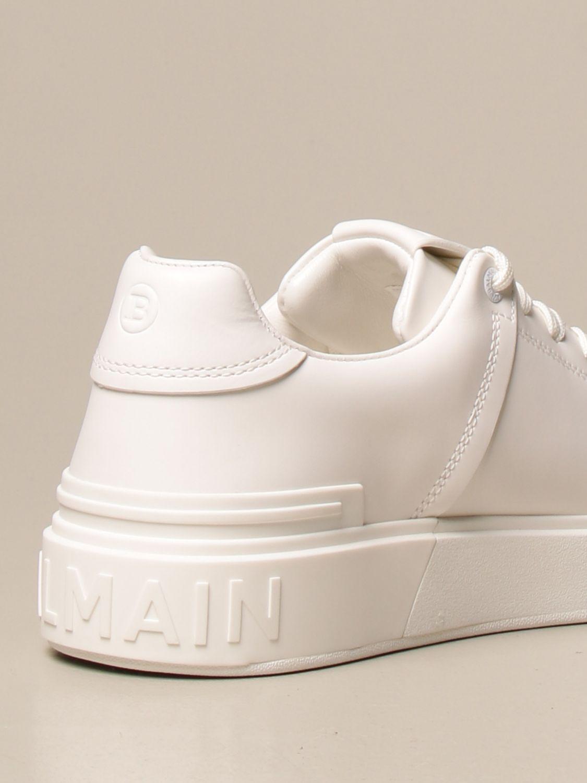 Sneakers Balmain: Sneakers Balmain in pelle con logo bianco 3