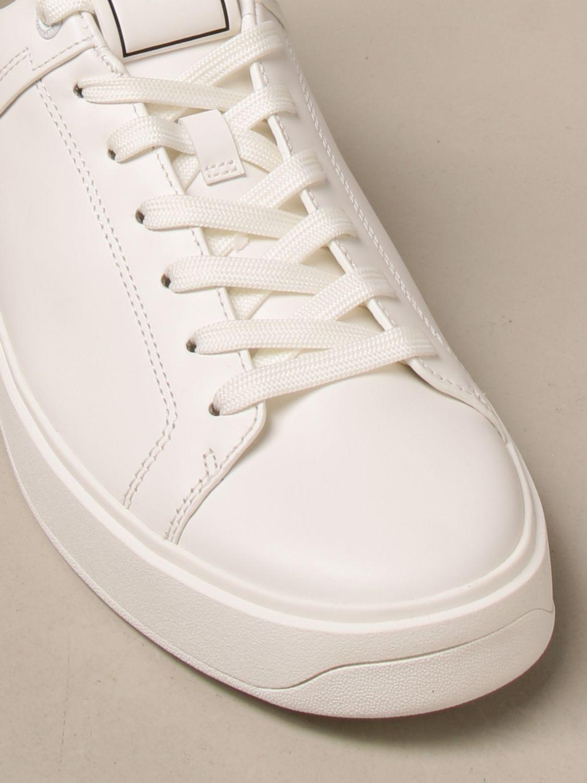 Sneakers Balmain: Sneakers Balmain in pelle con logo bianco 4