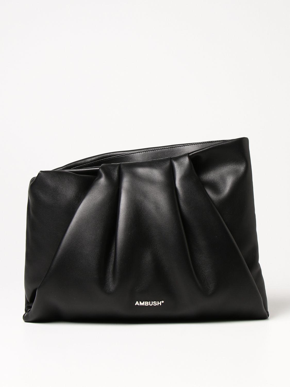 Clutch Ambush: Ambush leather bag black 1