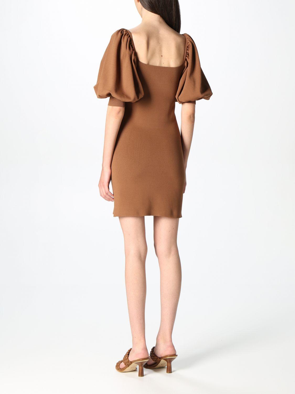 Kleid Semicouture: Kleid damen Semicouture braun 2