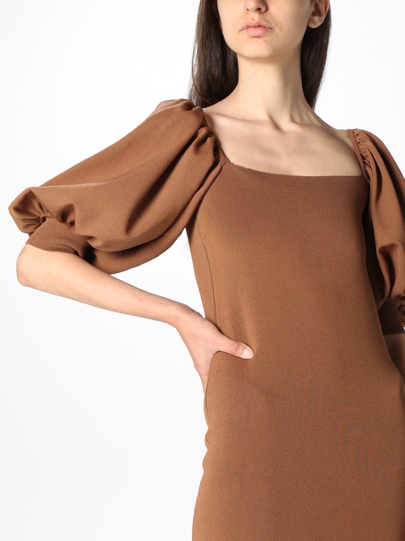 Kleid Semicouture: Kleid damen Semicouture braun 3