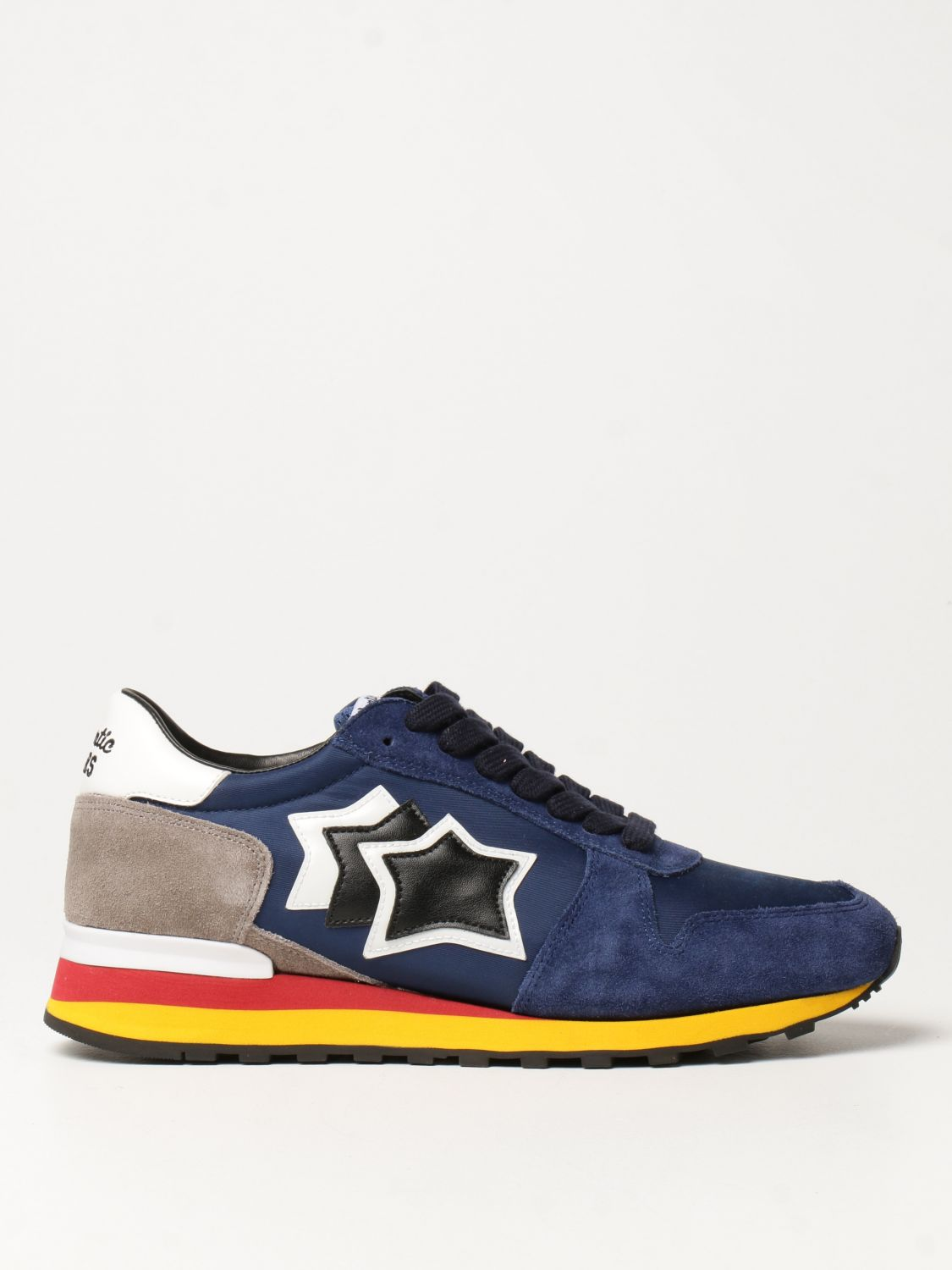 Sneakers Atlantic Stars: Atlantic Stars sneakers in nylon and suede blue 1
