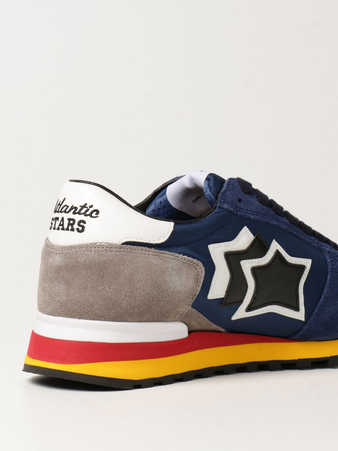 Sneakers Atlantic Stars: Atlantic Stars sneakers in nylon and suede blue 3