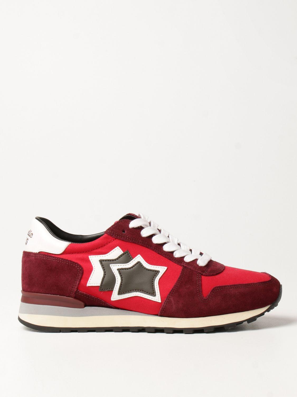 Sneakers Atlantic Stars: Sneakers Atlantic Stars in tessuto e camoscio bordeaux 1
