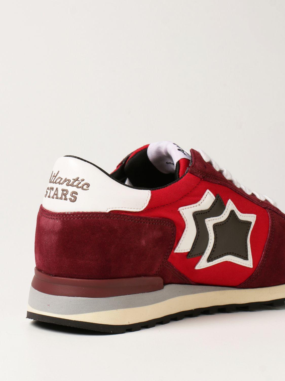 Sneakers Atlantic Stars: Sneakers Atlantic Stars in tessuto e camoscio bordeaux 3