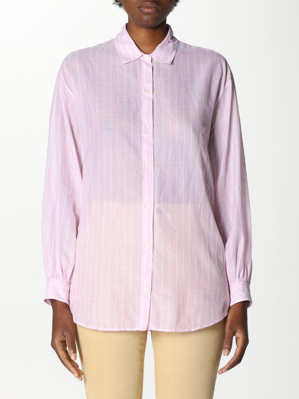 Camicia Robert Friedman: Camicia basic Robert Friedman bacchettata rosa 1