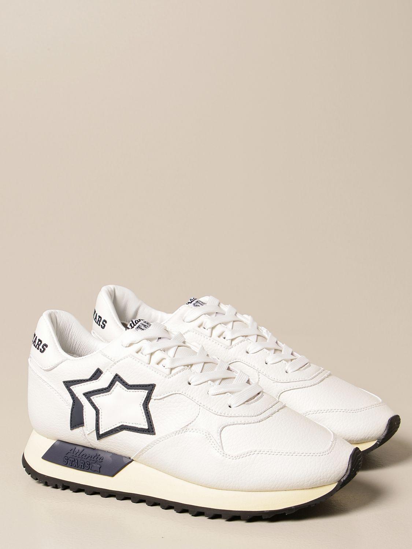 Sneakers Atlantic Stars: Sneakers Atlantic Stars in pelle sintetica bianco 2