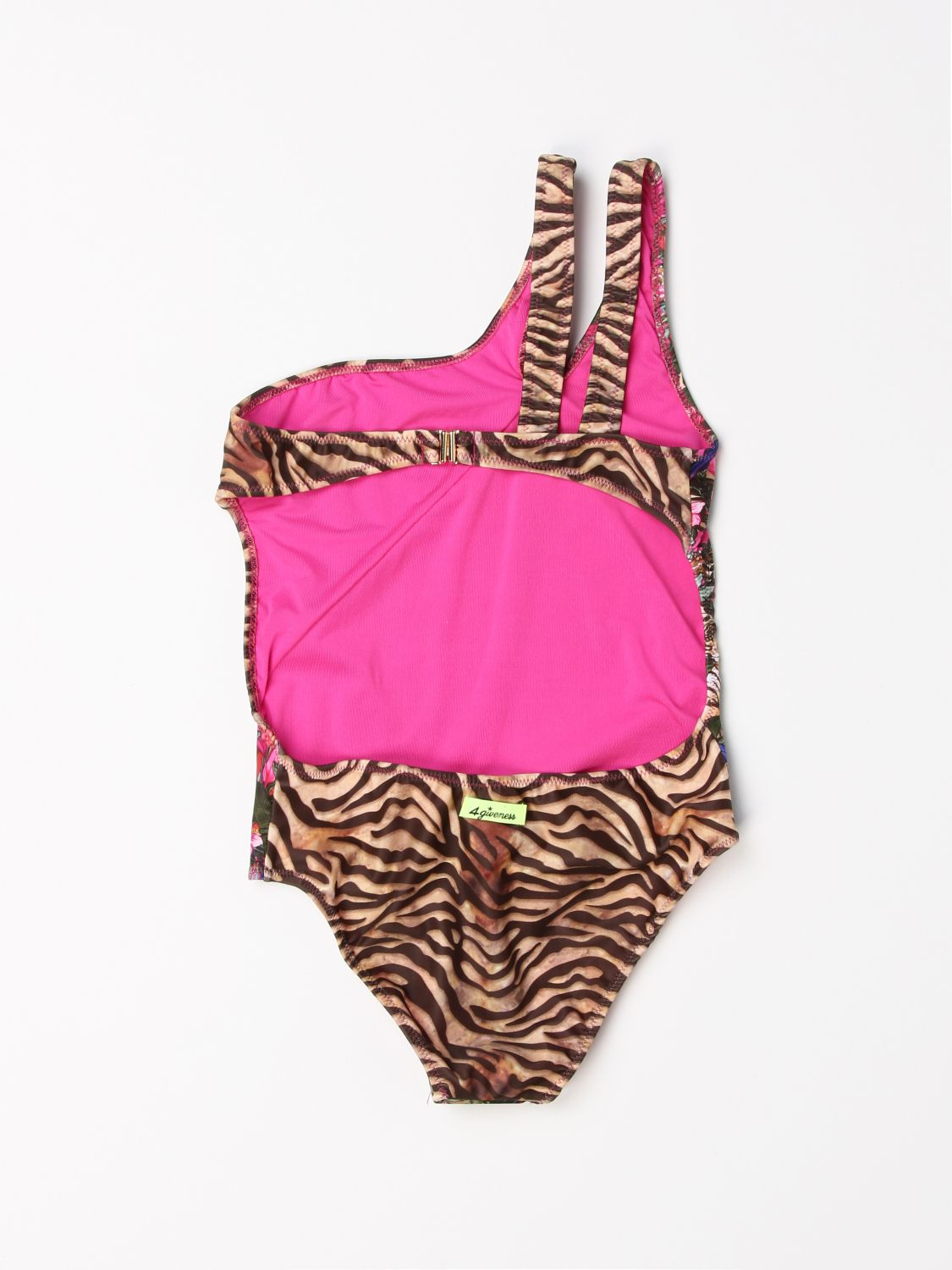 Swimsuit 4Giveness: 4Giveness patterned one-shoulder swimsuit multicolor 2