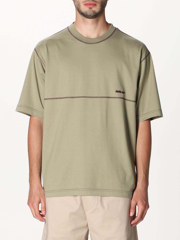 T-shirt Ambush: T-shirt Ambush con logo beige 1