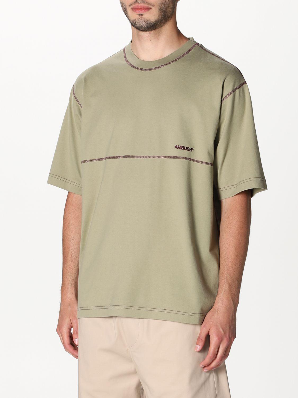 T-shirt Ambush: T-shirt Ambush con logo beige 3