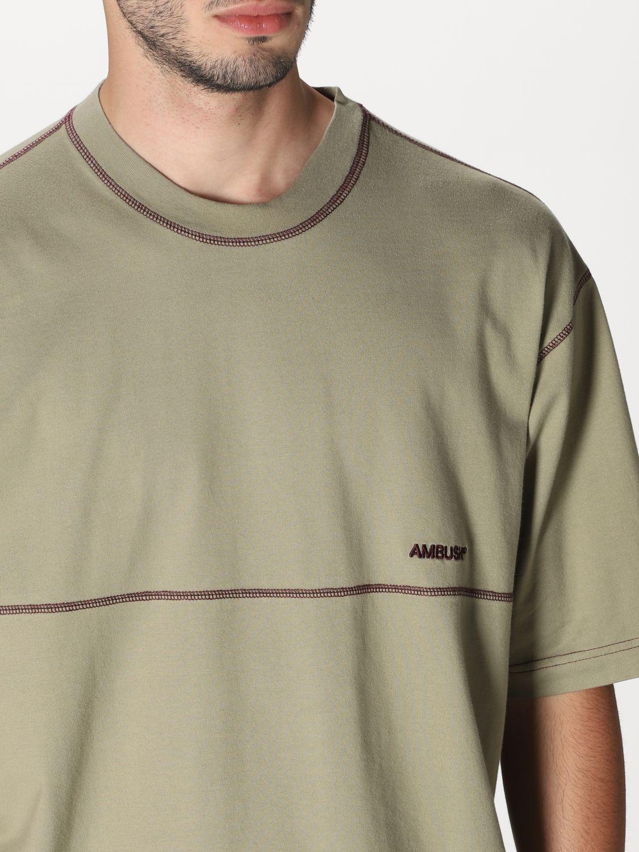 T-shirt Ambush: T-shirt Ambush con logo beige 4