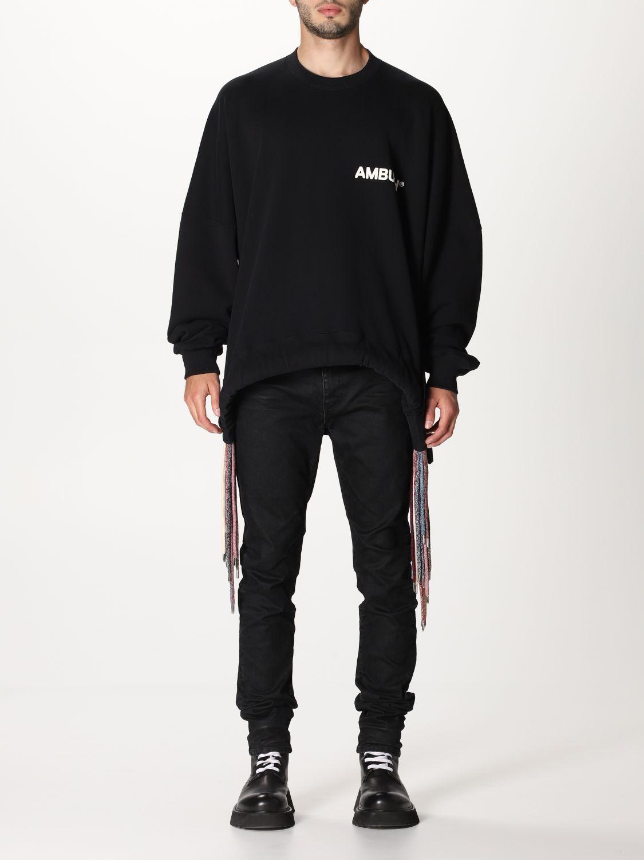 Sweatshirt Ambush: Over Ambush sweatshirt with multi laces black 1
