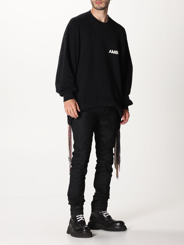 Sweatshirt Ambush: Over Ambush sweatshirt with multi laces black 2