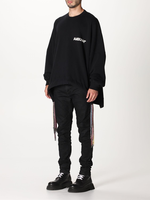 Sweatshirt Ambush: Over Ambush sweatshirt with multi laces black 4