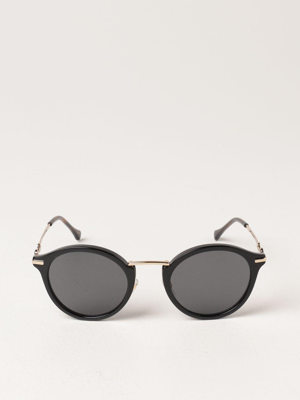 Occhiali Gucci: Occhiali da sole Gucci in metallo e acetato nero 2