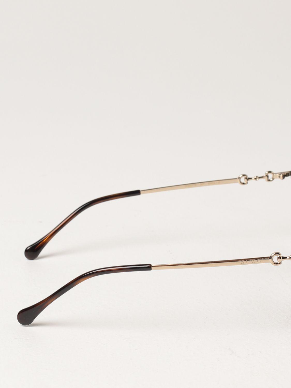 Occhiali Gucci: Occhiali da sole Gucci in metallo e acetato nero 3