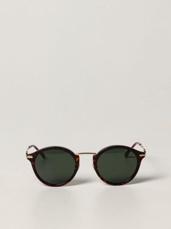 Occhiali Gucci: Occhiali da sole Gucci in metallo e acetato verde 2