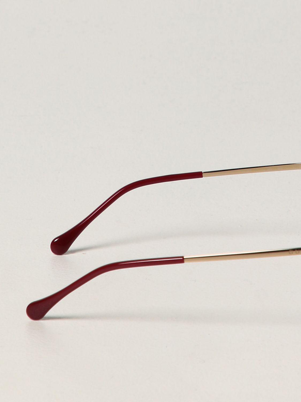 Occhiali Gucci: Occhiali da sole Gucci in metallo e acetato verde 3