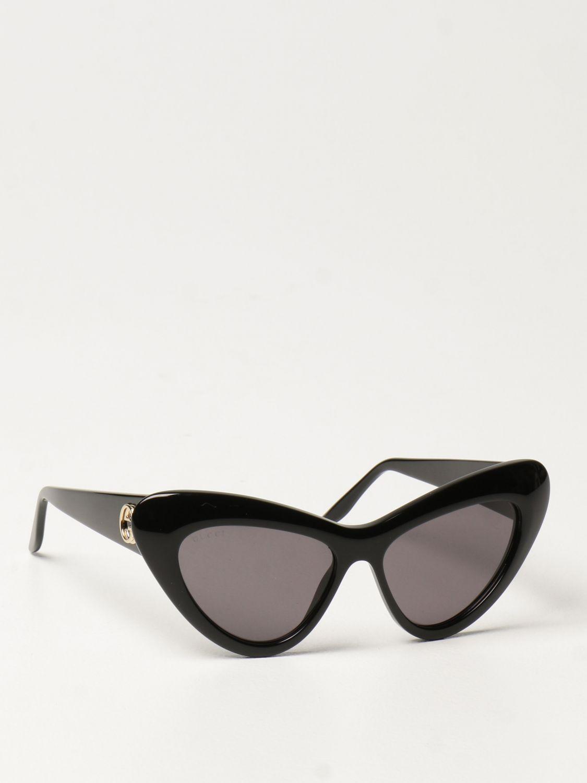 Occhiali Gucci: Occhiali da sole cat eye Gucci in acetato nero 1