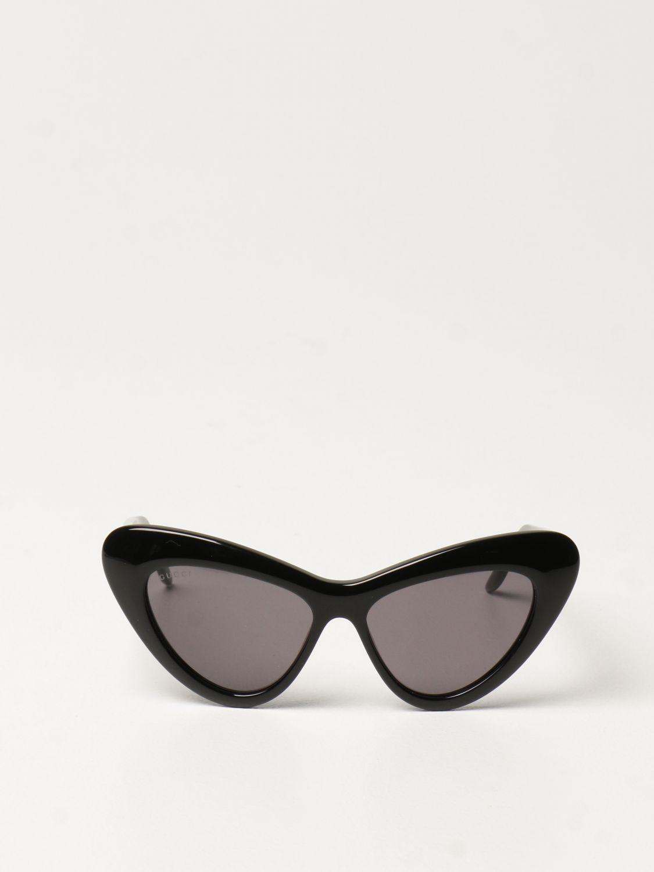 Occhiali Gucci: Occhiali da sole cat eye Gucci in acetato nero 2