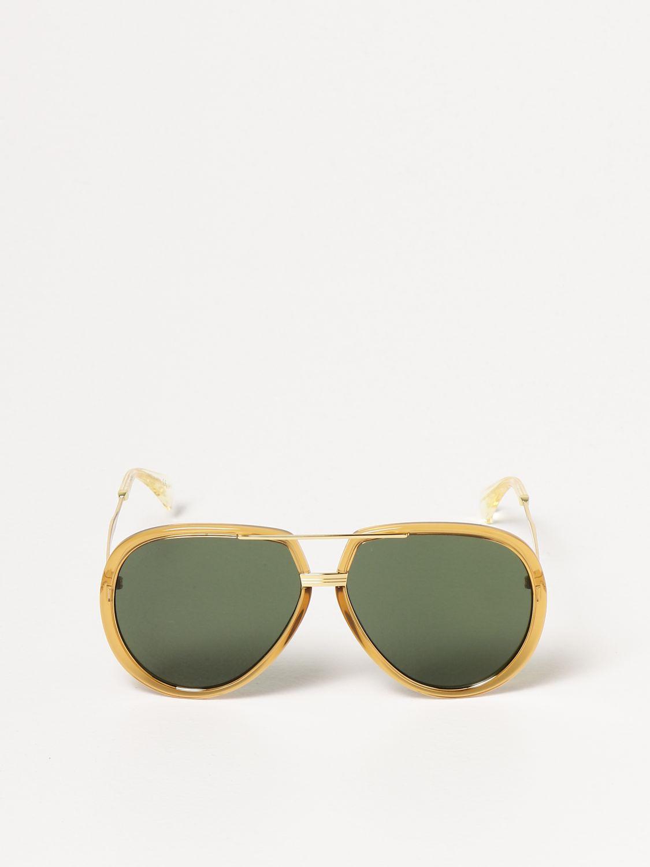 Occhiali Gucci: Occhiali da sole Gucci con doppio ponte giallo 2