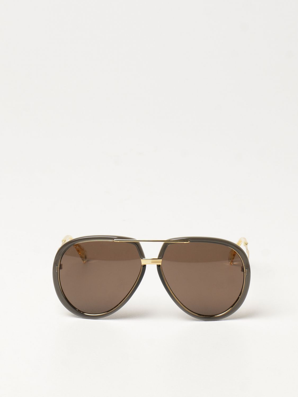 Occhiali Gucci: Occhiali da sole Gucci con doppio ponte grigio 2