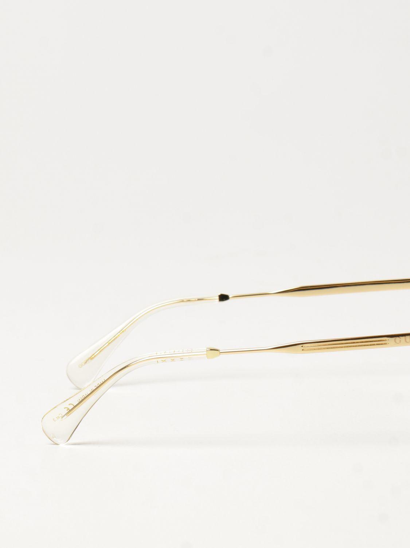 Occhiali Gucci: Occhiali da sole Gucci con doppio ponte grigio 3