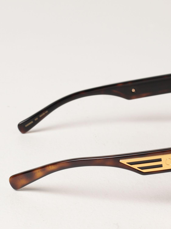 Occhiali Gucci: Occhiali da sole Gucci in acetato tartarugato marrone 3