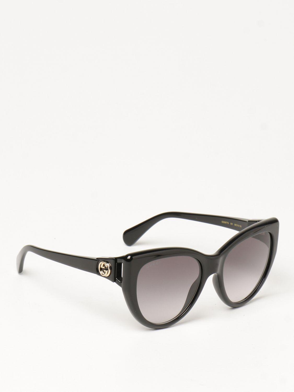 Occhiali Gucci: Occhiali da sole Gucci in acetato nero 1