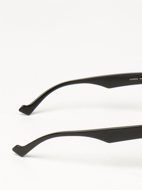 Occhiali Gucci: Occhiali da sole Gucci in acetato nero 3