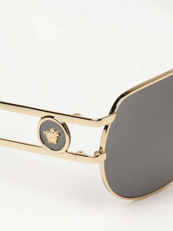 Occhiali Versace: Occhiali da sole Pilot Medusa Versace nero 4