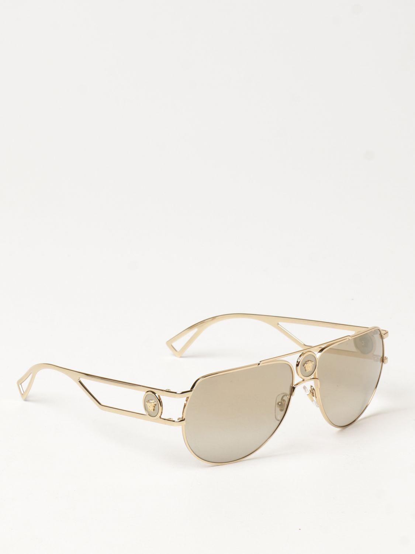 Солнцезащитные очки Versace: Солнцезащитные очки Мужское Versace золотой 1