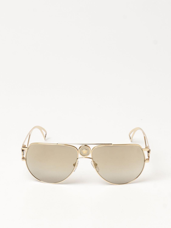 Солнцезащитные очки Versace: Солнцезащитные очки Мужское Versace золотой 2