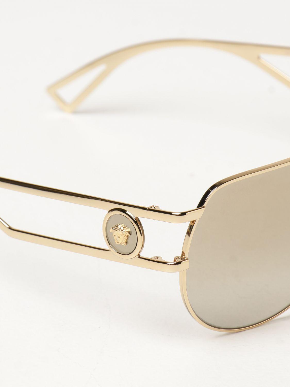 Солнцезащитные очки Versace: Солнцезащитные очки Мужское Versace золотой 4