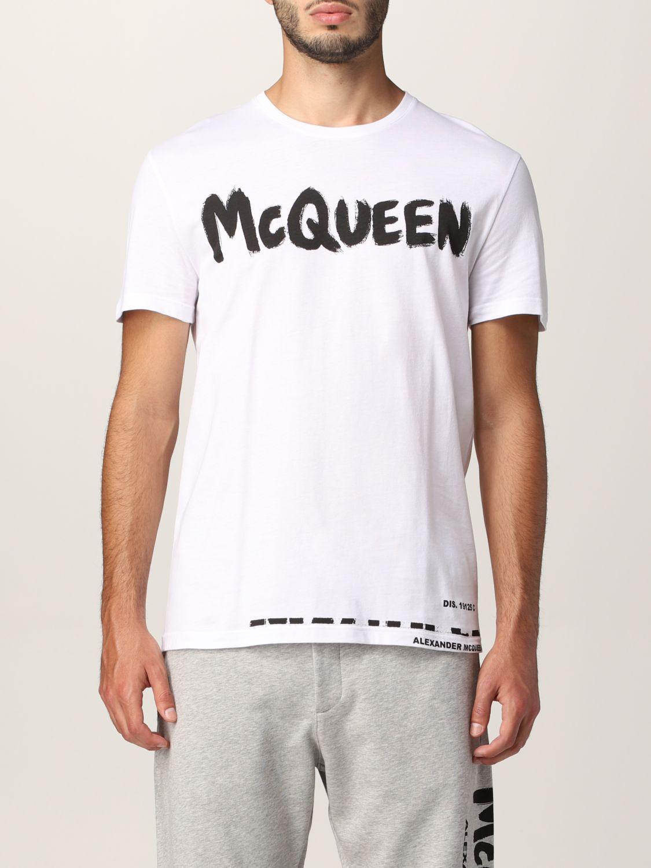 T-shirt Alexander Mcqueen: Alexander McQueen logo T-shirt white 1