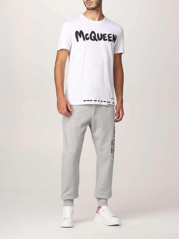 T-shirt Alexander Mcqueen: Alexander McQueen logo T-shirt white 2