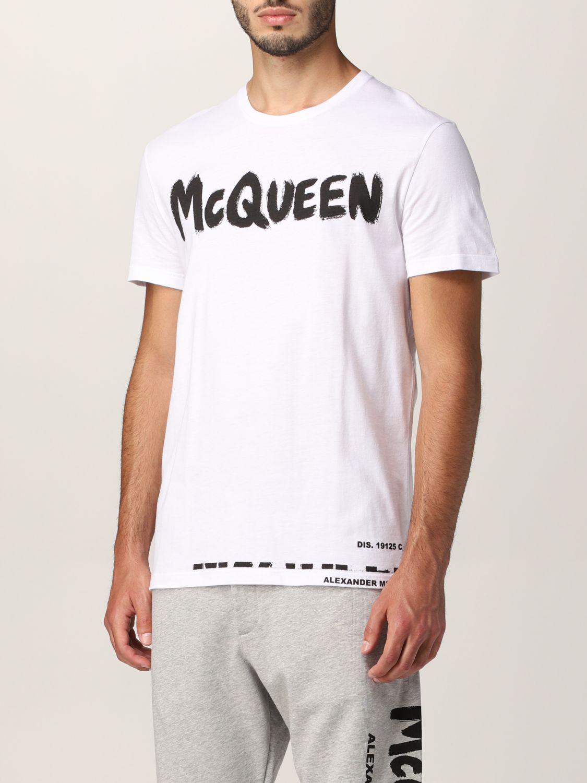 T-shirt Alexander Mcqueen: Alexander McQueen logo T-shirt white 4