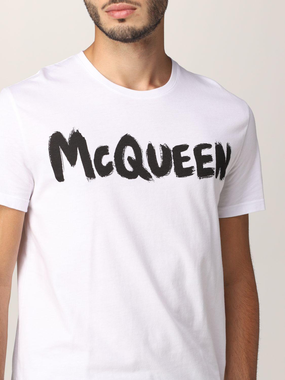 T-shirt Alexander Mcqueen: Alexander McQueen logo T-shirt white 5