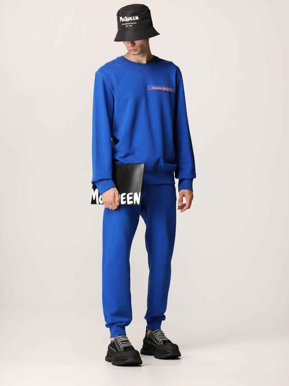 Portadocumenti Alexander Mcqueen: Pochette Alexander McQueen in pelle con logo Graffiti nero 2