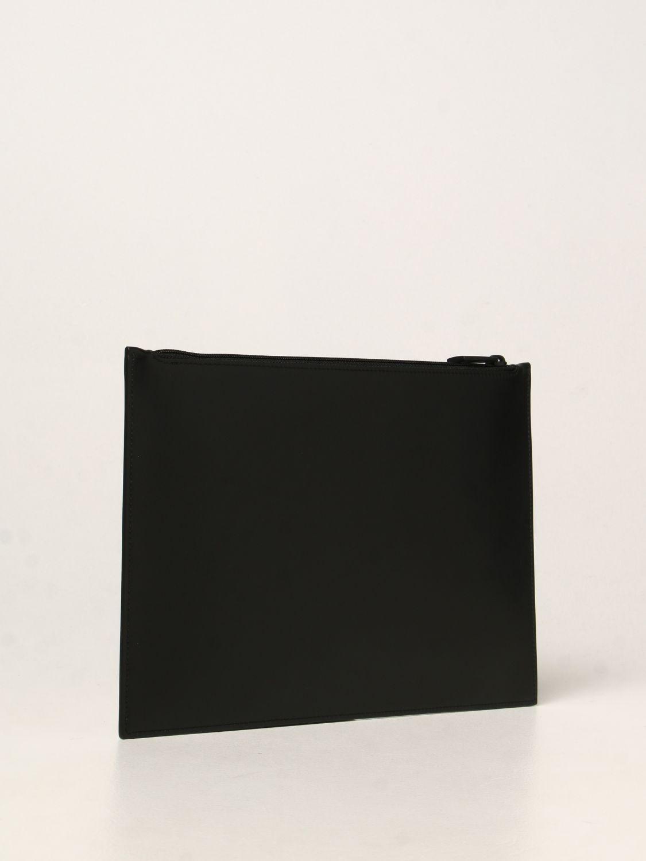 Portadocumenti Alexander Mcqueen: Pochette Alexander McQueen in pelle con logo Graffiti nero 3