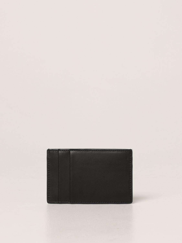 Portafoglio Alexander Mcqueen: Porta carte di credito Alexander McQueen in pelle nero 2